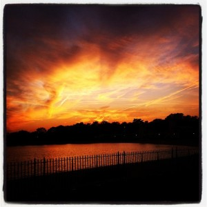 Orange sky over Rye, NY - November 2011